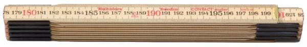 Gliedermeter 2 m (Kontakt-Meter) aus Holz