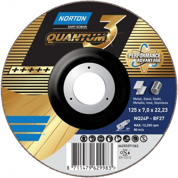 Schruppscheibe QUANTUM 3 für Metall/Inox