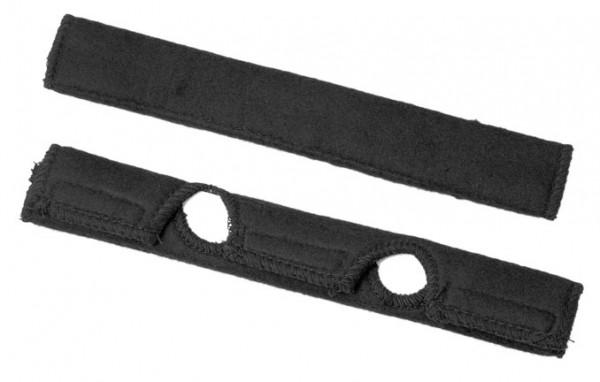 Stirnschweissband Baumwolle, schwarz (Set à 2 Stück)