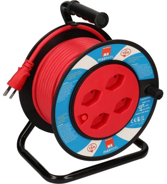 Kunststoff-Kabelrolle MINI mit Kunststoffkabel 15 m