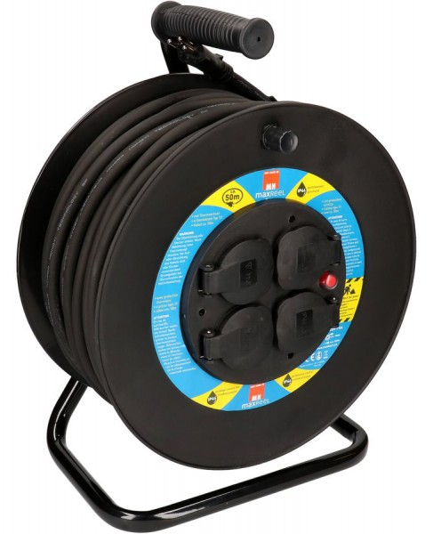 Kunststoff-Kabelrolle mit Gummikabel 50 m IP44