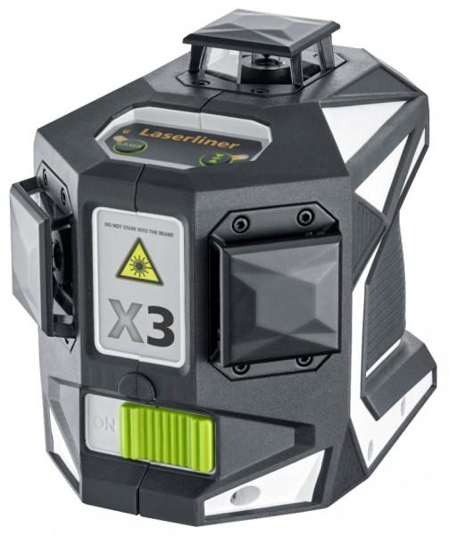 Kreuzlinienlaser X3-Laser Pro 360° mit grüner Lasertechnologie