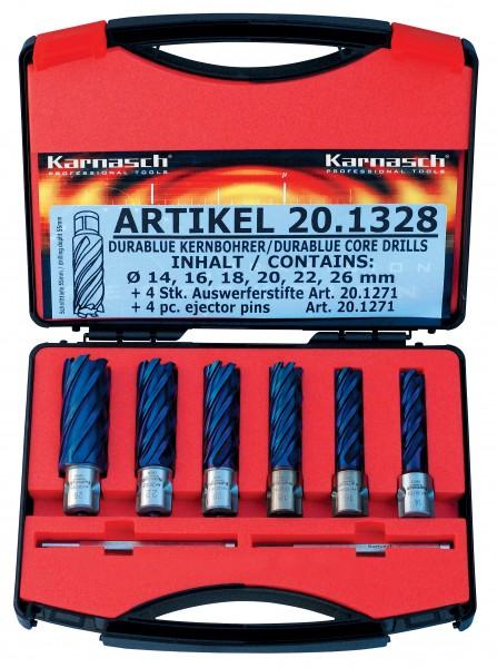 Kernbohrer HSS-XE Durablue BASIC-Set, Schnitttiefe 55 mm, Weldon 19