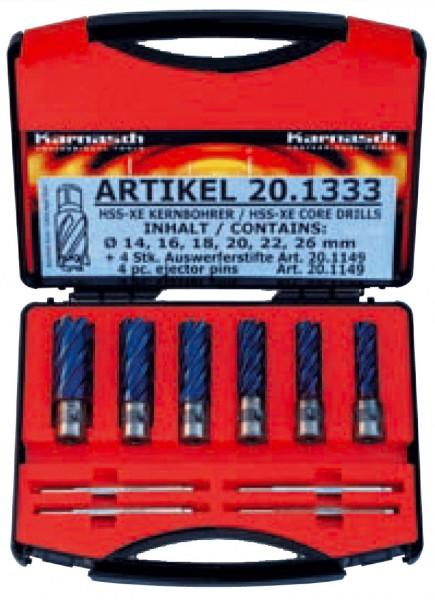 Kernbohrer HSS-XE Durablue BASIC-Set, Schnitttiefe 40 mm, FEIN Quick-In