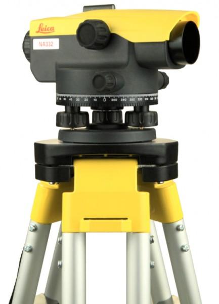 Nivellier-Set NA332 mit Stativ und Teleskoplatte