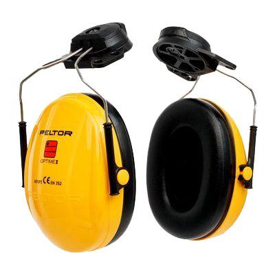 Kapselgehörschutz OPTIME I H510P3E, gelb, 26dB. für Helmbefestigung System 30 mm Steckschlitze