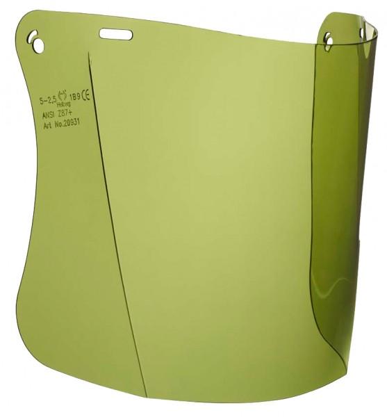 Polycarbonatscheibe grün getönt zu Helm-Gesichtschutzhalterung