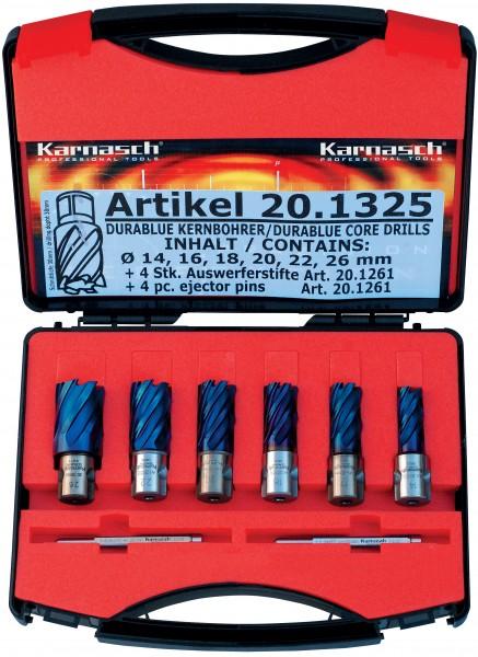 Kernbohrer HSS-XE Durablue BASIC-Set, Schnitttiefe 30 mm, Weldon 19