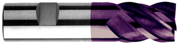 Schaftfräser 4Z mit Zentrumschnitt, VHM X-V-10