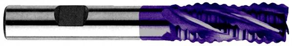 Schaftschruppfräser mit Zentrumschnitt, HSS Co8 beschichtet