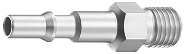 Stecknippel 6 mm mit kon. Aussengewinde ISO 6150C