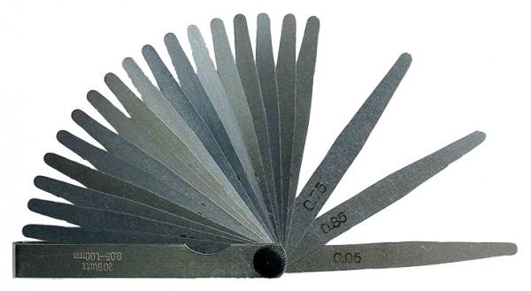 Fühlerlehren 20-tlg, 0.05 - 1.00 mm